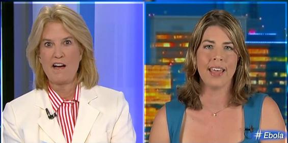 The shocked look on Greta Van Susteren's face is priceless.