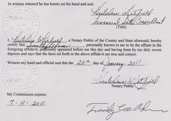 Affidavit by Hawaiian official that there is no Hawaiian birth certificant for Obama