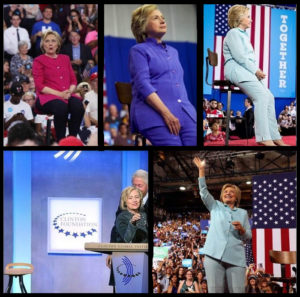 Hillary has a perching stool crutch never far away