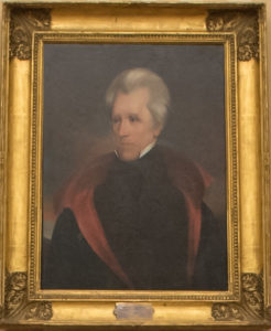 Portrait of Andrew Jackson in Trump's oval office